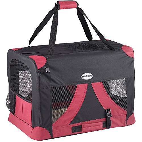 milo-misty-medium-60-x-42-x-42cm-lightweight-fabric-pet-carrier-crate-with-fleece-cushion