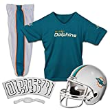 Franklin Sports NFL Deluxe Youth Uniform Set, Jungen Unisex, 15700F23, Miami Dolphins, S