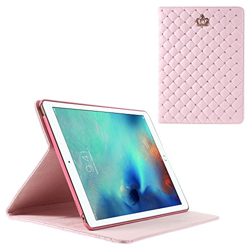 crown-beads-grids-leather-tasche-hullen-schutzhulle-cover-protector-fur-ipad-pro-97-inch-pink