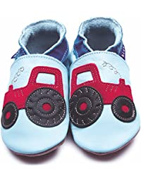 a54dbda5d923 Inch Blue Soft Leather Baby Shoes. Infant