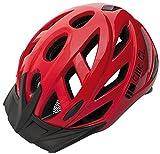 Walser 43725 - Casco de Ciclismo Infantil para Bicicleta de Paseo, Color Rojo (58-61 cm)
