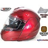 3GO 115 MODULARES MOTOCICLETA TURISMO DVS ECE ACU BURGANDY CASCO (L (59-60 CM))