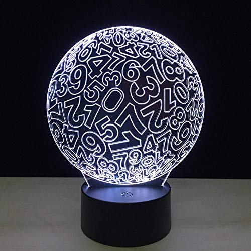 CYJQT 3D Nachtlicht Für Kinderusb Touch Digital Ball Modus Hohe Lichtdurchlässigkeit Acrylscheibe Spaß Tischlampe Variable Farbe Dekorative Led-Licht -