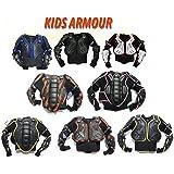 Bambini motocross giacca: XTRM JUNIOR Enduro Corpo Pettorina Moto Corazza, Quad scooter armatura Protettiva Gilet, TUTTI I COLORI (12 Anni, Nero)