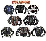 XTRM DEFLECTOR Kinder Motocross Enduro Kids JUNIOR Off Road KöRPERPANZER Jacke Motorrad Schutz Weste (10 Jahr, SCHWARZ)