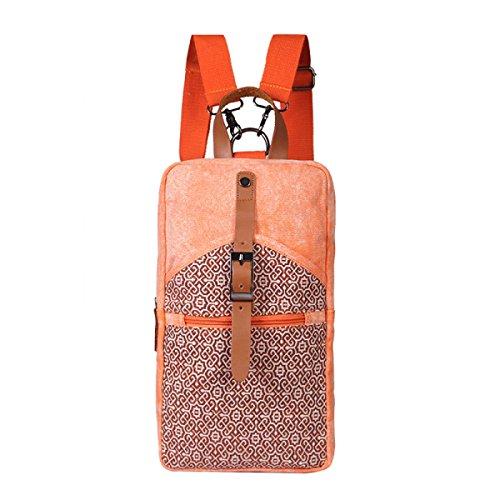 Männer Und Frauen Rucksack Waschen Leinwand Mit Superfeinen Woven Schultertasche Orange