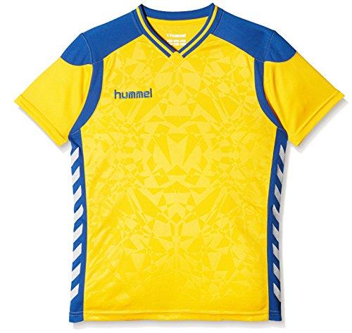 hummel Kinder Sirius Short Sleeve Jersey Trikot, Sports Gelb/Blue, 140-152