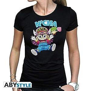 ABYstyle - Camiseta para Mujer (Talla XL), diseño de Arale & Gacchan, Color Negro