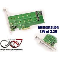 Kalea-Informatique–Scheda controller PCIe 2.0X4per SSD M2PCIe e/o SATA–con supporto 12V