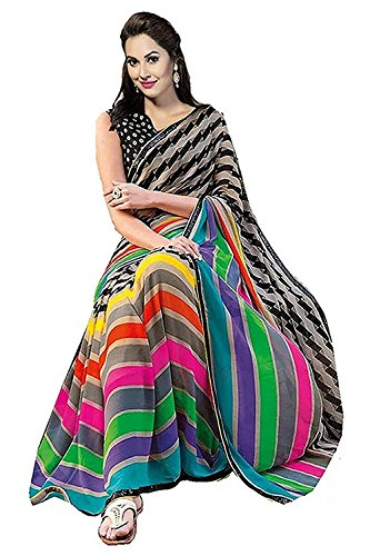 Saree(KBF Saree For Women Party Wear Half Multi Colour Printed Sarees Offer...