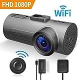 HaloCam C1 Plus Dashcam Auto Kamera 1080p IMX291 Sony Sensor CMOS G-Sensor WLAN Kamera mit 170 Grad Weitwinkelobjektiv Super Klare Sicht Loop Recording