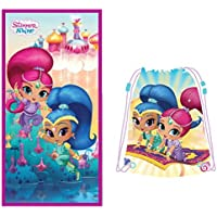 Nickelodeon Shimmer and Shine Toalla de Playa + Bolsa de Playa