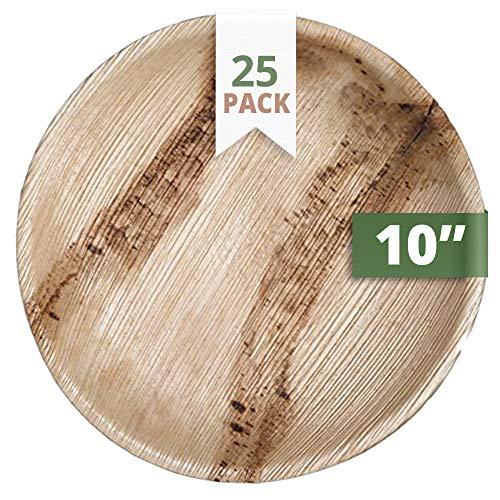 CaterEco 712166788738 Runde Palmblatt Essteller, 25 cm (25-er Pack)