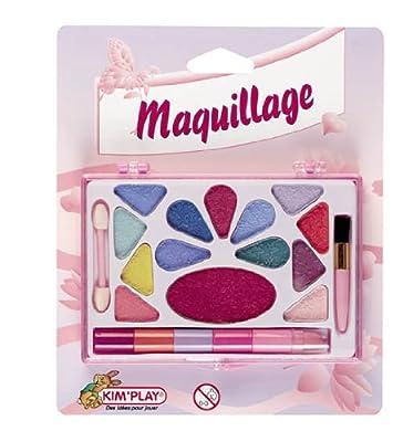 Cofalu Kim'Play - Caja de maquillaje con sombras de ojos y pintalabios para niñas de Cofalu Kim'Play