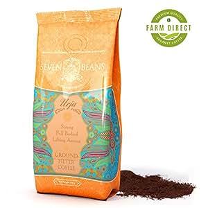 """Urja"" Ground Coffee Beans - Medium Roast - Single Origin Indian Gourmet Coffee by Seven Beans Coffee Company"