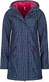 LAERKE Damen Mantel FANO Jacke Softshell Übergangsjacke mit Kapuze, Wassersäule 8000 mm, navy-dots, S