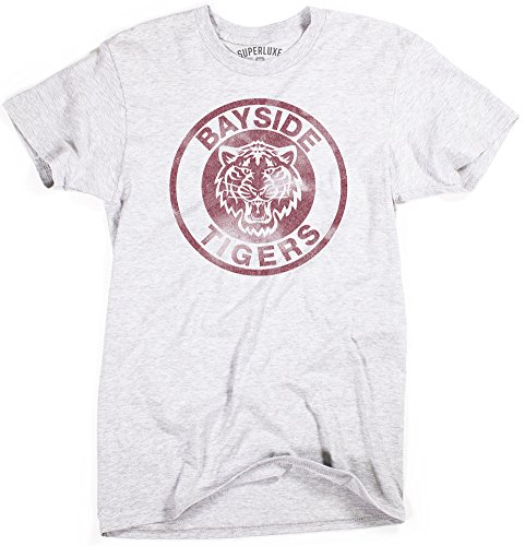 Superluxe Clothing Herren T-Shirt Bayside Tigers Vintage Style Zack Morris Slater, Herren, grau meliert, 3X-Large