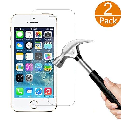 [2-Unidades] iPhone 5S 5 5C SE Protector de Pantalla, Y-ouni Cristal Templado...