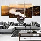 mmbj Moderne HD Imprimé Mur Artwork Toile Modulaire Photos 5 Pièces Extrême Sports Peinture Décoratif À La Maison Dakar Rallye Voiture Affiche 30x40cmx2 30x60cmx2 30x80cmx1