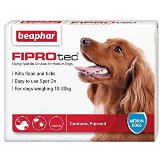 Beaphar FIPROtec Spot On Solution for Medium Dogs 6x, up to 30 weeks Treatment, Kills Fleas and Ticks 51Mlo9 2Bbk5L