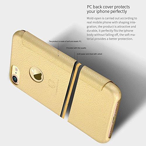 Wkae Lenuo PU + PC Litchi Textur Horizontale Flip Leder Tasche mit Kartensteckplätzen für iPhone 7 ( Color : Red ) Red