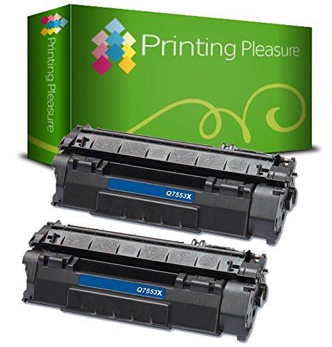 Hp Ergiebigkeit (Printing Pleasure Kompatible Q7553X 53X Tonerkartuschen für HP Laserjet P2015 P2015D P2015DN P2015N P2015X P2010 P2012 P2013 P2014 P2014DN P2014X M2727 M2727NF M2727NFS MFP, Schwarz, hohe Ergiebigkeit)
