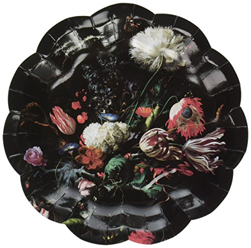 Talking Tables PPBQ-Plate-SML Party Porcelain Baroque Assiette Papier Petit PQT 12 3 Designs, Plastique, Multicolore, 2 x 0,02 x 17 cm