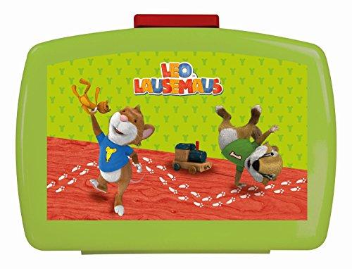 p:os 24117 - Brotdose Leo Lausemaus mit Einsatz, 16 x 12 x 6.5 cm