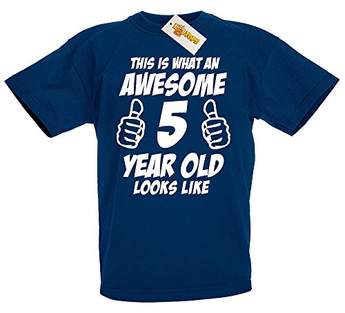 this-is-what-an-awesome-5-year-old-looks-like-5th-birthday-gift-t-shirt-for-boys-navy