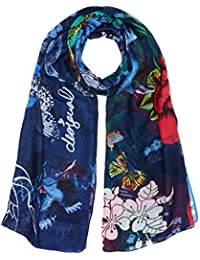 Desigual Foulard_rectangle Boho Mix, Bufanda para Mujer