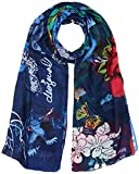 Desigual FOULARD_RECTANGLE BOHO MIX Sciarpa, Blu (Estate Blue 5016), Unica (Taglia Produttore: One Size) Donna