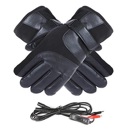 Maliyaw Guanti riscaldanti elettrici , Guanti riscaldanti Neri per Moto all'aperto per Autunno e Inverno - 12V