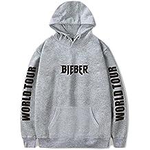 SERAPHY Unisex Sudadera con Capucha Justin Bieber con Capucha Purpose Tour Bieber Sudadera con Capucha World