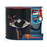 DC Comics - Superman - Keramik Thermoeffekt Tasse Riesentasse 460 ml - Logo - Geschenkbox