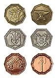LARP-Münzen Zwerge / Fantasy-Währung Spiel-Geld von Battle-Merchant Ausführung mit braunem Beutel