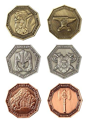 LARP-Münzen Zwerge / Fantasy-Währung Spiel-Geld von Battle-Merchant Ausführung mit schwarzem (Geld Kostüm Zubehör Beutel)