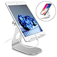 Pjp Electronics Tablet Stand Multi-Angle, iPad Stand, Aluminum Desktop Adjustable Holder for iPad mini Air, iPhone, Samsung Galaxy, Samsung Tablet, Nintendo Switch, Other Tablets (4-13 inch)