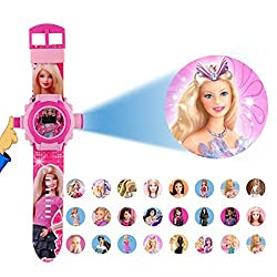 TARSA - Barbie 24 Different Images Projector Digital Toy Watch for Kids - Good Return Gift
