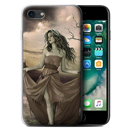 Officiel Elena Dudina Coque / Etui Gel TPU pour Apple iPhone 7 / Cheveux Dorés Design / Caractère Conte Fées Collection Notre Dame