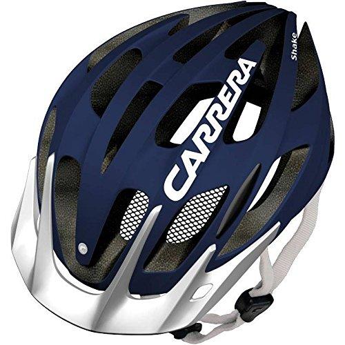 Fahrradhelm Carrera Shake dunkelblau-weiß