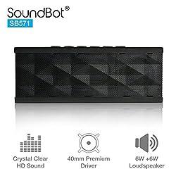 SoundBot SB571 Bluetooth Speakers (Silver/Back)