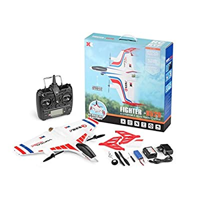 RC Drone,New Mini Helicopter Airplane Vertical Takeoff Land Delta Wing RC Glider Plane Toy Gift For Kids Adult (Sale)