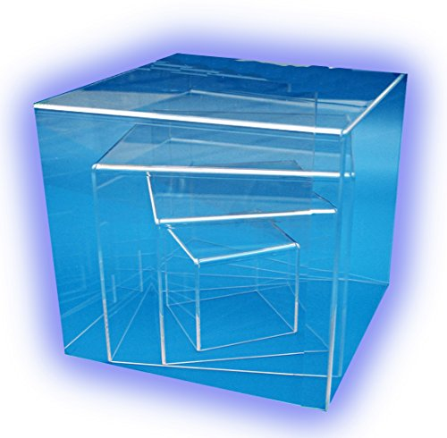 HOKU Holzhäuser Kunststofftechnik  Spuckschutz aus Acrylglas Transparente Acryl-Box in Würfelform Plexiglas-schutzhaube Acrylic-Cube.Acrylglas-Anfertigung .Plexi-Box.25 x 25 x 25 cm .Plexiglas-Würfel (Acryl-box)