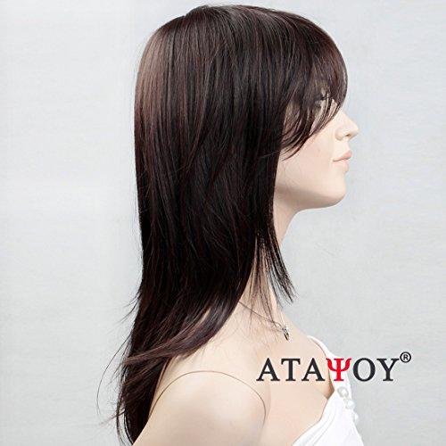ATAYOU®Lange Gerade Schwarze Perücken - Natürliche und Modische -