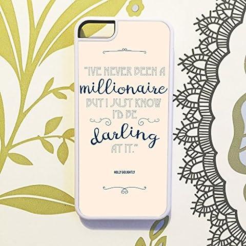 Oliva & Maybelle Retro Chic Millionaire Darling Hepburn Desayuno Holly Golightly–Carcasa para iPhone 6y 6S (4,7)–en color