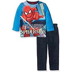 Spiderman HQ2148, Conjunto de Pijama Para Niños, Multicolor (Blue), 8 años