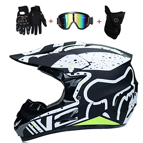YYCC-helmet Fast Drop DH Off-Road-Motorrad AM Mountainbike Vollhelm Reithelm, Rennhelm Sicherheit Sicherheit Helm Knight Off-Road-Helm kühlen Off-Road-Helm,L