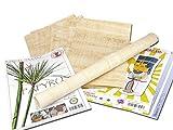 Papyrus-Blätter 10 Blatt Blanko Natur-Papyrus 30x20cm aus Ägypten für Schulen & Kunst-Unterricht kostenloser Bastelbogen - Blanco Hochzeitskarten aus Papyri – Hieroglyphen Papyrus Blatt, Einladung Hochzeit - Taufe - Geburtstag - Jubiläum - Abschied