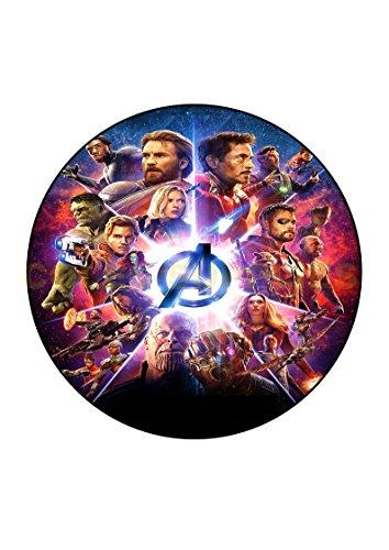 Avengers Infinity Krieg 18 cm rund Essbar bedruckt ()