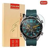 [4 Pack] PULEN Kompatibel with Huawei Watch GT / Huawei Watch GT Active (46mm) Panzerglas Schutzfolie, 9H Glas Bildschirm schutzfolie [Anti-Kratzen] [Bubble-frei] HD Klar Blasenfreie folie